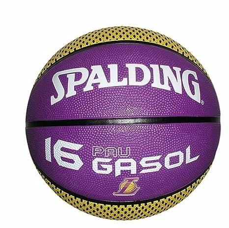 Spalding NBA Pau Gasol LA Lakers - Balón de baloncesto (tamaño 5 y ...
