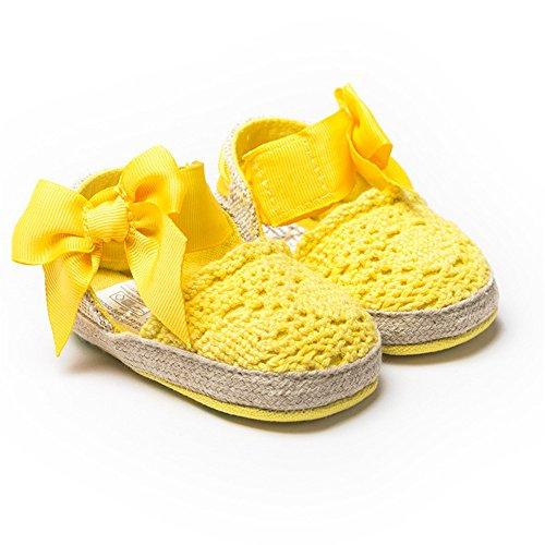 Bebé Niña Zapatos de verano infantil Sandalias tamaños de US, - caqui, 13-18 Months amarillo