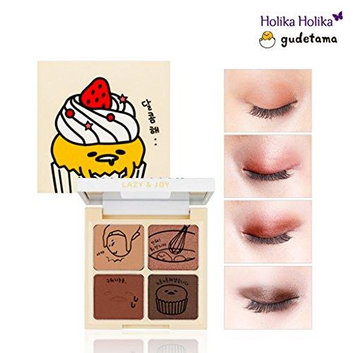[Holika Holika] Lazy & Joy Gudetama Cupcake Eye Paltte Shadow 6g (#01 Red Velvet) (Best Eyeshadow Palette For Asian Skin)