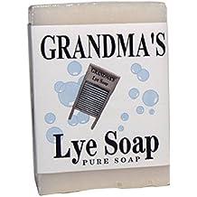 1 6oz Bar of Grandmas Pure Natural Lye Soap Bar Unscented For Dry Skin