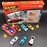 PLUSPOINT Rapid high Speed Launcher Along with 7 Die cast Metal Car and Stoppers
