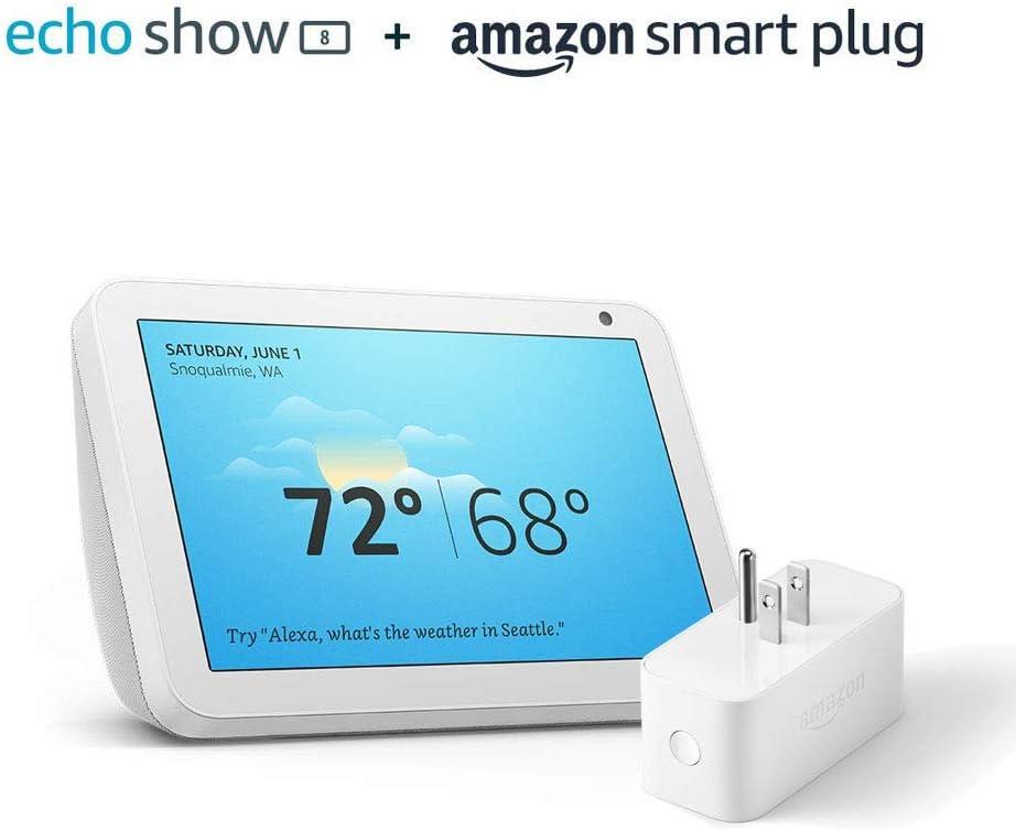 Echo Show 8 Sandstone with Amazon Smart Plug