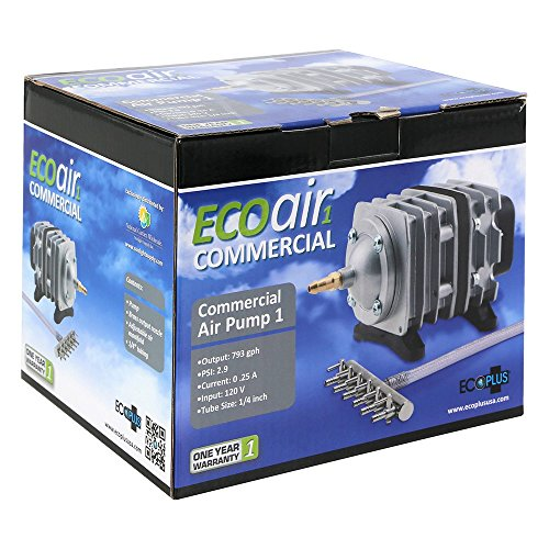 EcoPlus 793 GPH (3000 LPH, 18W) Commercial Air Pump w/ 6 Valves | Aquarium, Fish Tank, Fountain, Pond, Hydroponics by EcoPlus (Image #6)
