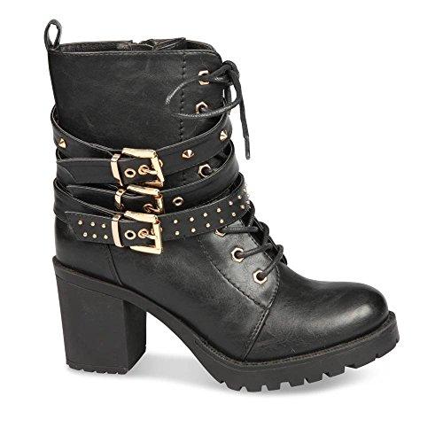 sélection premium e9287 72d7e Bottines NOIR MyB Femme Chaussea: Amazon.fr: Chaussures et Sacs