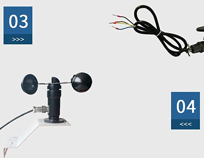 Sensor de Velocidad del Viento de la estación meteorológica, transmisor de Velocidad de Viento del Detector de Viento del Detector de Viento del velocímetro ...