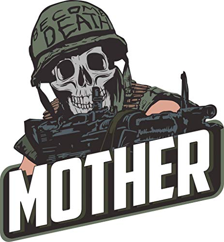 The Tactical Born to Kill Become Death Animal Mother Full Metal Jacket Helmet Decal/Sticker 3x3