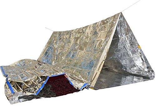 Survival-Set mit Notfall-Zelt und Folien-Schlafsack Rettungsdecke