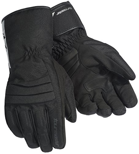 Tour Master Mid-Tex Men's Textile Street Racing Motorcycle Gloves - Black / Medium