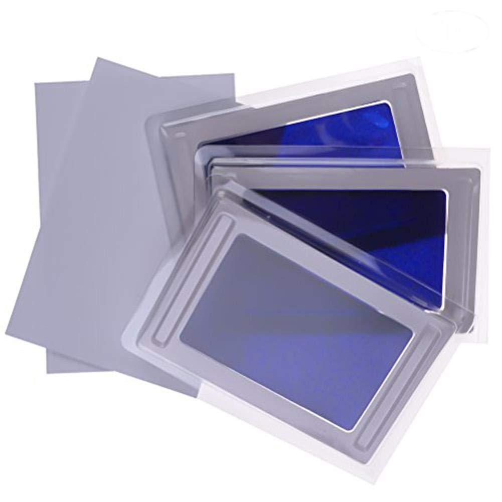 Osun 3 pz per tampone di inchiostro impronta digitale per bimbo, atossico.  Blue