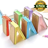 Koogel 300 Pieces 2.2 x 3.5 Inches Multicolor Kraft Paper Binder Ring Easy Flip Flash Card Study Cards/ Memo Scratch Pads/ Bookmark/ DIY Greeting Card/ Index Card Stock/ Note Card( 50 sheets per set)