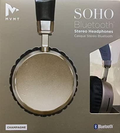 84064935c89 Image Unavailable. Image not available for. Color: MVMT Soho Bluetooth  Wireless Rechargeable Stereo Headphones Champagne