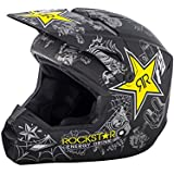 Fly Racing Rockstar Matte Black-Charcoal-Yellow Rockstar 2018 Elite Mx Helmet (L , Black)