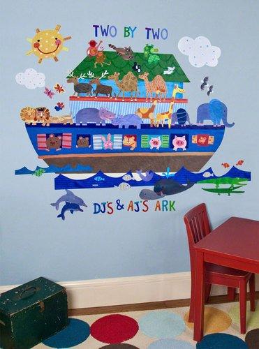Oopsy Daisy Noah's Ark Peel and Place Wall Art