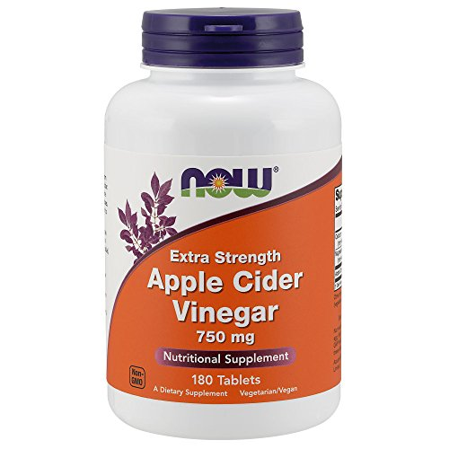 Now Extra Strength Apple Cider Vinegar 750 mg, 180 Tablets by NOW Foods
