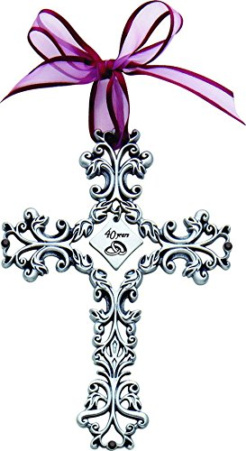 Cathedral Art FC310 40 Year Anniversary Wall Cross, 5-Inch High