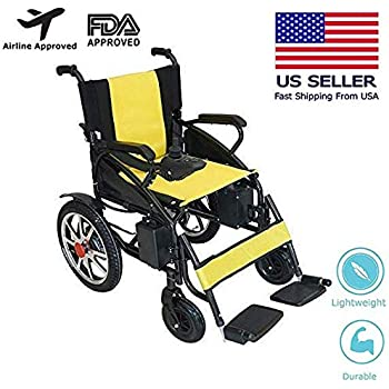 2019 Updated Electric Wheelchairs Silla de Ruedas Electrica para Adultos FDA Approved Transport Friendly Lightweight Folding Electric Wheelchair for Adult ...
