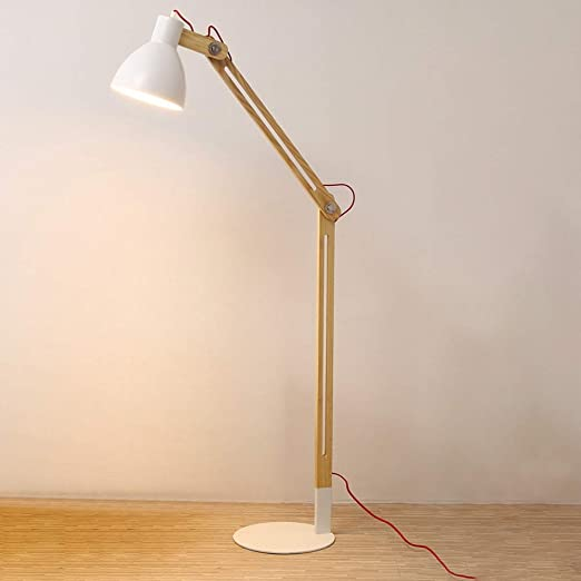 Lámpara de pie nórdica con Pantalla de Metal - para Sala de Estar ...