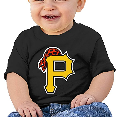 Price comparison product image Boss-Seller Pirate Logo Short Sleeve T-srhits For 6-24 Months Infant Size 24 Months Black