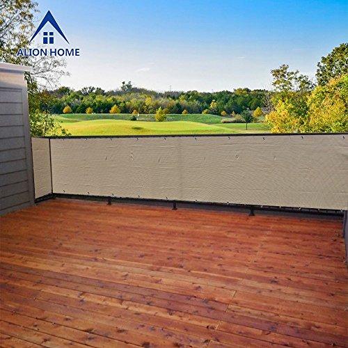 Alion Home Elegant Privacy Screen For Backyard Deck, Patio, Balcony, Fence, Pool, Porch, Railing. Banha Beige (4' x 10')