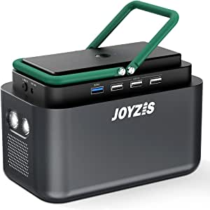 150Wh/40500mAh Portable Power Station, JOYZIS Solar Generator with 110V AC Outlet/4 DC Ports/4 USB Ports, Backup Battery Pack Power Supply for Outdoor Advanture Load Trip Camping