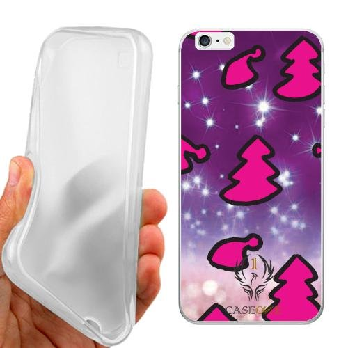 CUSTODIA COVER CASE CASEONE ICONE NATALE PER IPHONE 6 PLUS