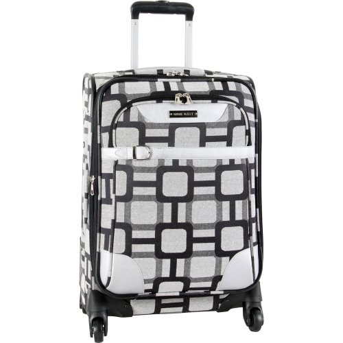 ninewest-luggage-super-sign-20-inch-upright-spinner-black-grey-one-size