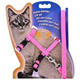 Liroyal Adjustable Pet Cat Kitten Belt Lead Leash Collar Harness Safety Strap Rope