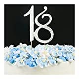 gold cake numbers - Cake Topper - Wedding Anniversary or Birthday Number Cake Topper Party Crystal Rhinestone Decoration Gold 18