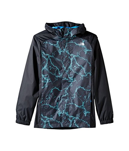 The North Face Boys' Resolve Reflective Jacket Cascade Blue Lightning Print M by The North Face
