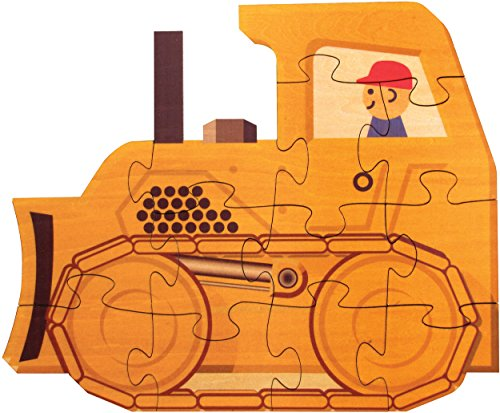 Bulldozer Shaped Puzzle - Made in USA
