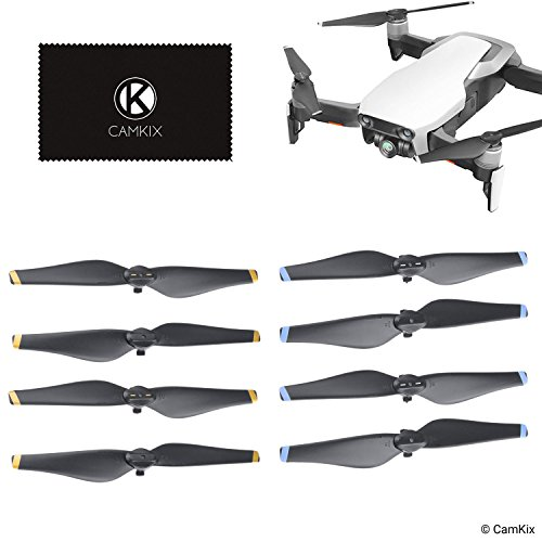 CamKix Replacement Propellors Blades Compatible with DJI Mavic Air - 4 Blades or 8 Blades (Black) (8 Blades - 2 Sets ()