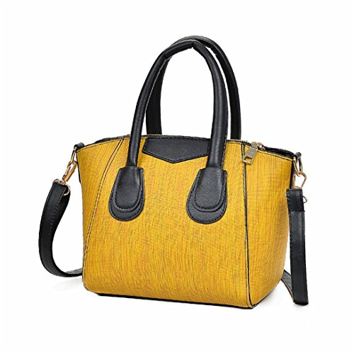 Tracolla Borsa Borsa Kword Tote Borsa Borsa Casuale Pelle Zip Donna Bag Giallo A Tote Donna In Bag Casuale FxxqPz8