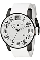 Swiss Legend Men's 30427-BB-02-WS Airbourne Stainless Steel Watch with White Band