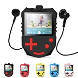 AGPTEK MP3 Player for Kids, Portable 8GB Music Player with Built-in Speaker, FM Radio, Voice Recorder, Expandable Up to 128GB, Black(K1)