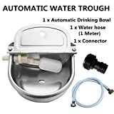 Automatic Water Trough Stainless Steel Bowl Auto for Dog Horse Sheep With Water Hose