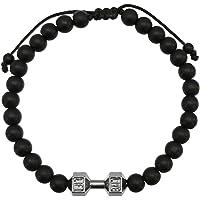 Pulsera de Hombre Pesa/Mancuerna Plomo - Rodio - Ajustable - Elegantia Jewelry