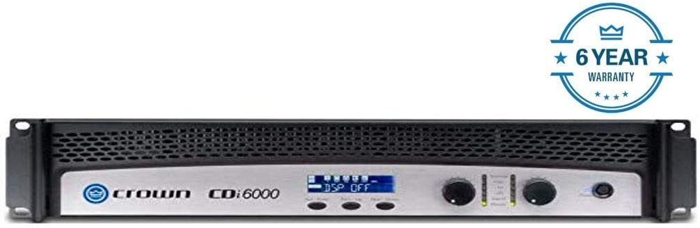 Crown CDi 6000 Two channel 2100W 4 70V 140V Power Amplifier