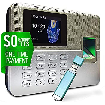 ... Time Clock for Employees | $0 Monthly Fee | One Time Payment for The Software Required | Include USB Flash Drive & Dynamic Reports Creator | USA Support