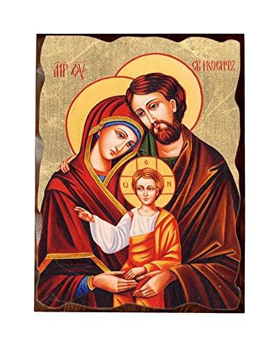 Libreriadelsantoit Icona Ortodossa In Foglia Oro Sacra Famiglia