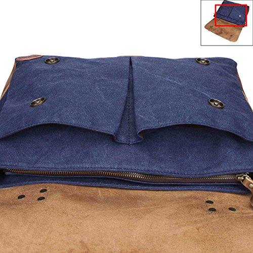 Fafada - Bolso al hombro para hombre Type1-Coffee large B Azul