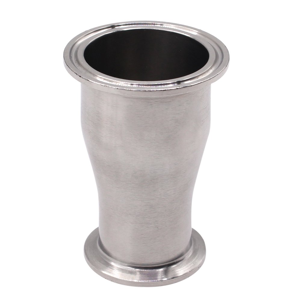 DERNORD Sanitary Fitting Reducer Fitting SUS304 Tri Clamp Ferrule Style 2'' Tube OD to 1-1/2'' Tube OD by DERNORD