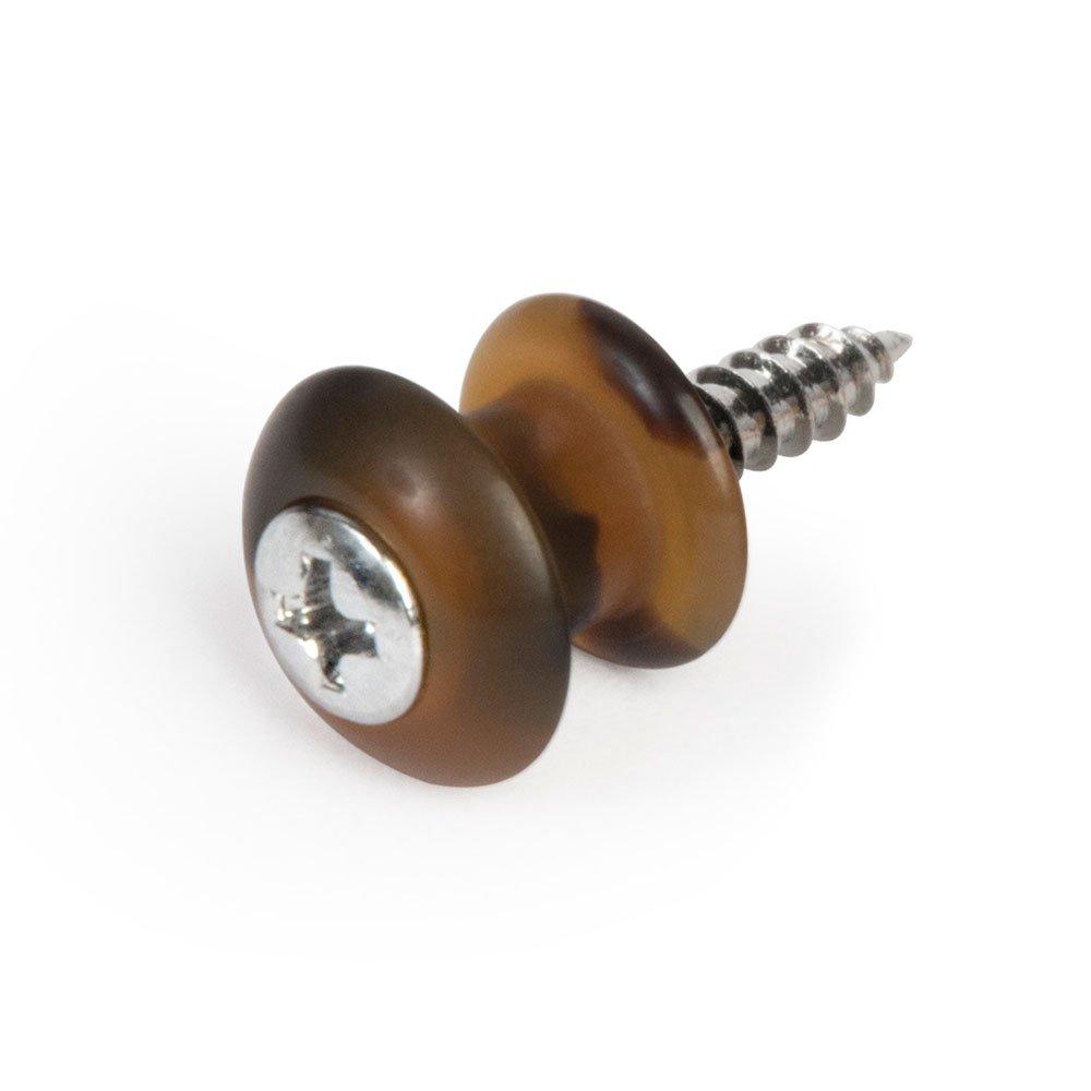 Waverly Guitar Strap Button, Dark Tortoise Button, Chrome Screw
