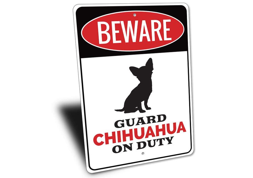 Amazon.com: Chihuahua, señal de cuidado con perro, cuidado ...