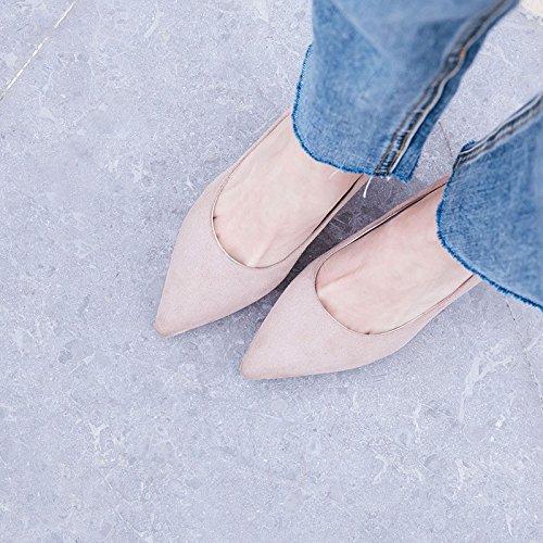 tamaño zapatos apricot de singles de de con la Moda Consejos los la el luz primavera negrita femeninos qEYawxZ