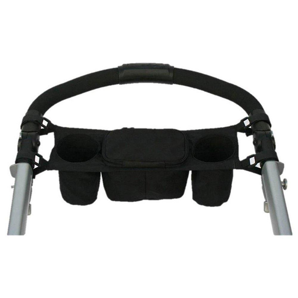 Dealglad® Kids Baby Stroller Console Tray Pram Hanging Organizer Double Bag Bottle Cup Stroller Pushchair Buggy Holder DealgladUK