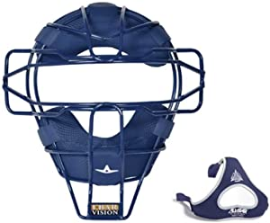 All-Star Sports Traditional Steel Baseball Catcher Face Mask w/ Luc Pads, Royal