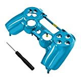 Buycool PS4 Controller Front Cover Case, 2nd Generation Playstation Four Game Controller Replacement Customized for Playstation 4 Controller PS3 (Blue)