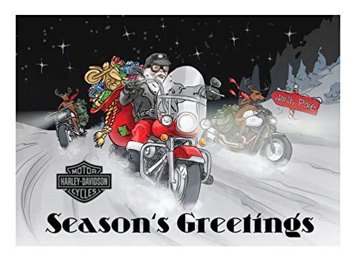 - Harley-Davidson Winter Biker Santa Boxed Holiday Cards - Set of 12 HDX-90009