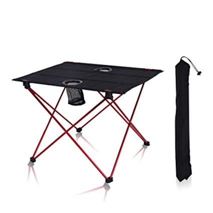 YXCXC Outdoor Folding Table And Chairs Aluminum Alloy Portable Table Light  Double Oxford Camping BBQ Picnic