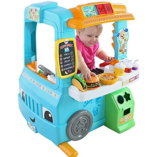Fisher-Price Laugh & Learn Servin' Up Fun Food Truck (Deluxe Pack - Includes 22 Toys with Magical Cash Register)